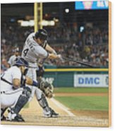 Marcus Semien and Paul Konerko Wood Print