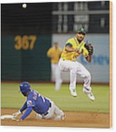 Marcus Semien and Shin-soo Choo Wood Print