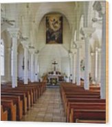 Maria Lanakila Church Interior Wood Print
