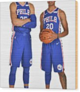 Markelle Fultz and Ben Simmons Wood Print