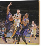 Markieff Morris, Klay Thompson, and Marcus Morris Wood Print