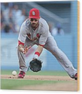 Matt Carpenter and A. J. Ellis Wood Print