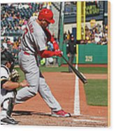 Matt Holliday Wood Print