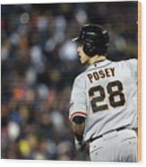 Max Scherzer and Buster Posey Wood Print