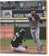 Melky Cabrera and Jason Kipnis Wood Print