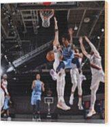 Memphis Grizzlies v Portland Trail Blazers Wood Print