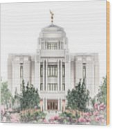 Meridian Temple - Celestial Series Wood Print