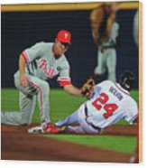 Michael Bourn and Chase Utley Wood Print