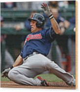 Michael Brantley and Asdrubal Cabrera Wood Print