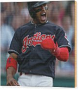 Michael Brantley and Francisco Lindor Wood Print