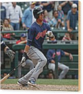 Michael Brantley Wood Print