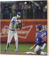 Michael Conforto and Ben Zobrist Wood Print