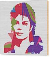 Michael Jackson 2 POP ART Wood Print