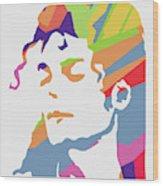 Michael Jackson 3 POP ART Wood Print