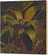 Midnight in the garden Wood Print