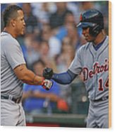 Miguel Cabrera and Austin Jackson Wood Print