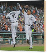 Miguel Cabrera and Victor Martinez Wood Print