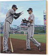 Mike Foltynewicz and Jace Peterson Wood Print
