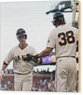 Mike Morse and Buster Posey Wood Print