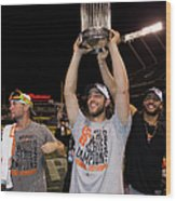 Mike Morse, Ryan Vogelsong, and Madison Bumgarner Wood Print