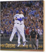 Mike Moustakas and Eric Hosmer Wood Print