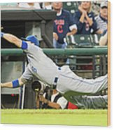 Mike Moustakas and Lonnie Chisenhall Wood Print