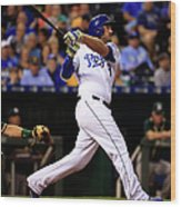 Mike Moustakas Wood Print