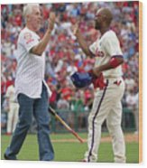 Mike Schmidt and Jimmy Rollins Wood Print