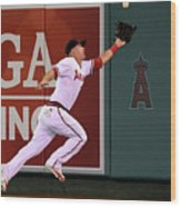 Mike Trout and Adam Eaton Wood Print