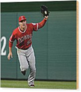 Mike Trout and Bryce Harper Wood Print