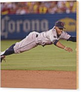 Mike Trout and Francisco Lindor Wood Print