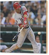 Mike Trout and Hank Conger Wood Print