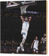 Minnesota Timberwolves v Brooklyn Nets Wood Print