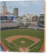 Minnesota Twins v Cleveland Indians Wood Print