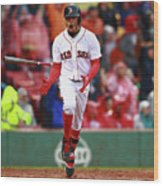 Mookie Betts Wood Print