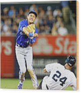 Munenori Kawasaki and Chris Young Wood Print