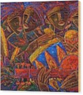 Musas Del Caribe Wood Print