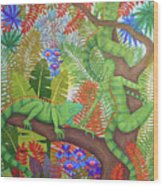 Mysterious Creatures Wood Print