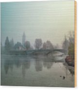 Mystery By The Lake Wood Print