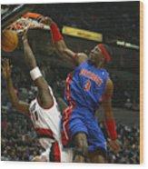 NBA Basketball 2005 - Pistons vs. Trailblazers Wood Print