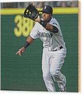 Nelson Cruz And Mark Canha Wood Print