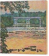New Memorial Bridge at Dusk Wood Print
