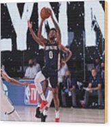 New Orleans Pelicans v Brooklyn Nets Wood Print