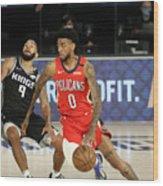 New Orleans Pelicans v Sacramento Kings Wood Print