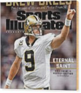 New Orleans Saints Drew Brees, Special Retirement Commemorative Issue Wood Print
