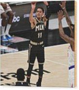 New York Knicks v Atlanta Hawks - Game Four Wood Print
