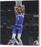 New York Knicks v San Antonio Spurs Wood Print