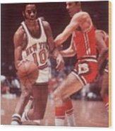 New York Knicks Walt Frazier... Sports Illustrated Cover Wood Print
