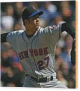 New York Mets v Chicago Cubs Wood Print