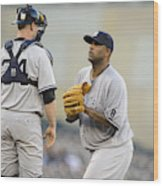 New York Yankees v Minnesota Twins Wood Print